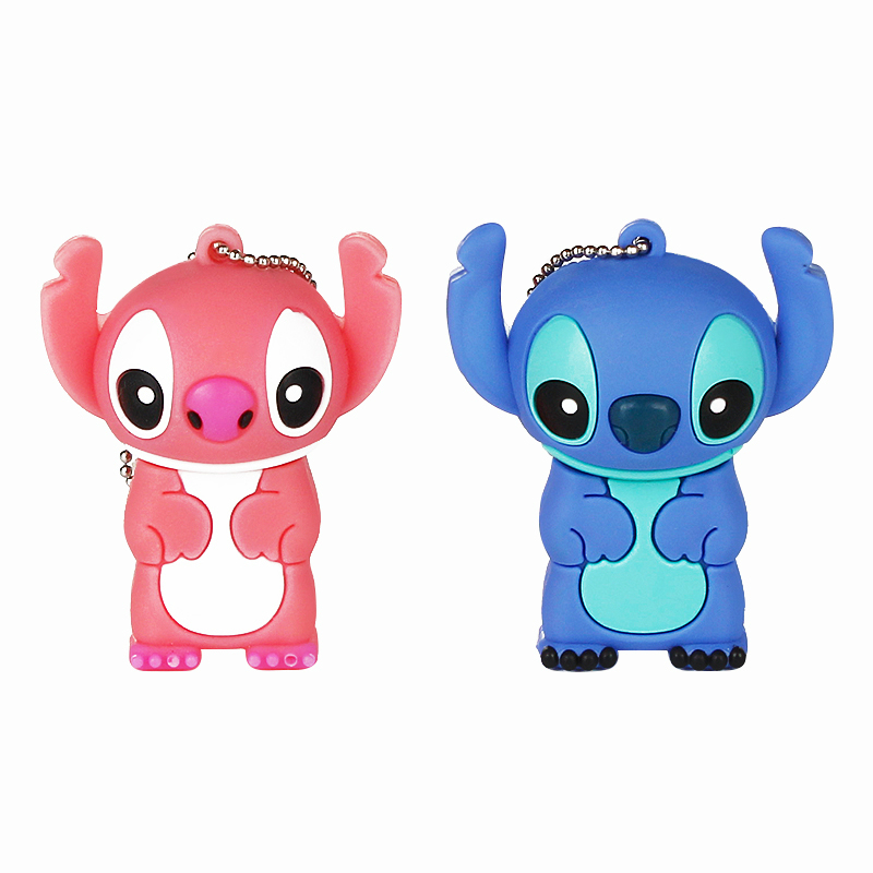 Image 2 - 2019 Cute Stitch 32GB Usb Flash Drive Cartoon Pen Drive 64gb 128gb Pendrive 16gb 8gb 4gb Usb 2.0 Flash Memory Stick Lovely Gift-in USB Flash Drives from Computer & Office