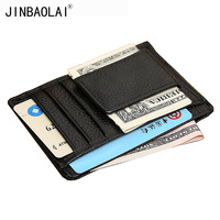 Men S Leather Money Clip Genuine Leather Card Holder Wallet With Clip For Cash Famous Brand