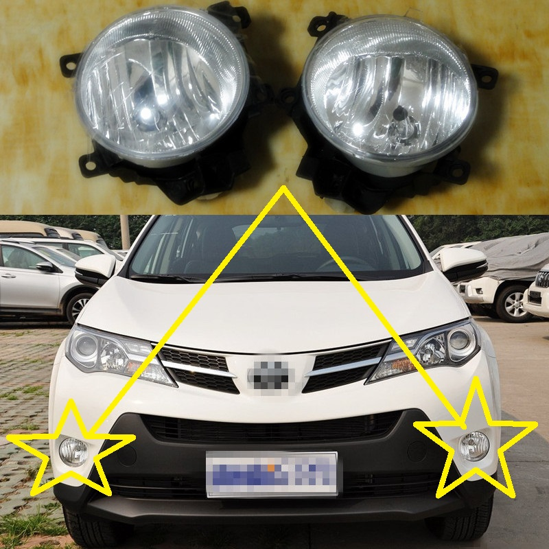 2 Pcs/Pair front bumper fog lights lamps RH and LH for TOYOTA RAV4 2013-2015 2 pcs pair rh and lh front fender side marker lights turn lamps for toyota coralla 2007 2009