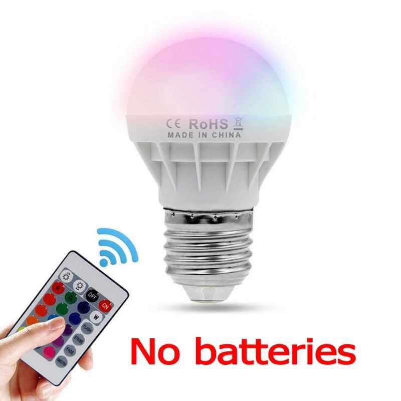 E27 E14 9 ワットled rgb led電球赤外線リモコンポップランプ変色ac 85-265v 16 色の変更led電球チューブ