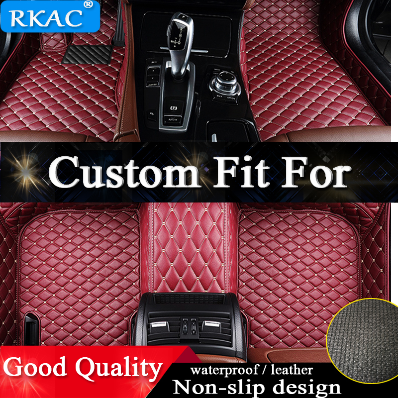 RKAC Custom car floor mats For nissan all model qashqai qashqai almera Patrol GT R X Trail Cefiro fuga QUEST car accessories