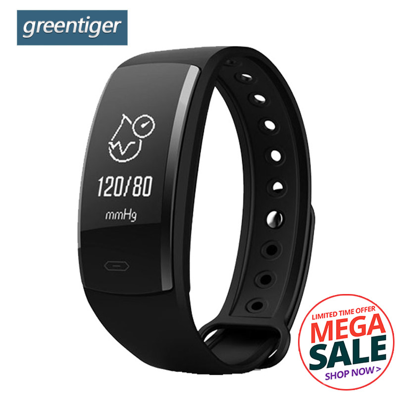 купить Greentiger QS90 Smart Bracelet Blood Pressure Oxygen Heart Rate Monitor Smart Wristband Fitness Tracker for Andriod IOS VS QS80 по цене 918.65 рублей