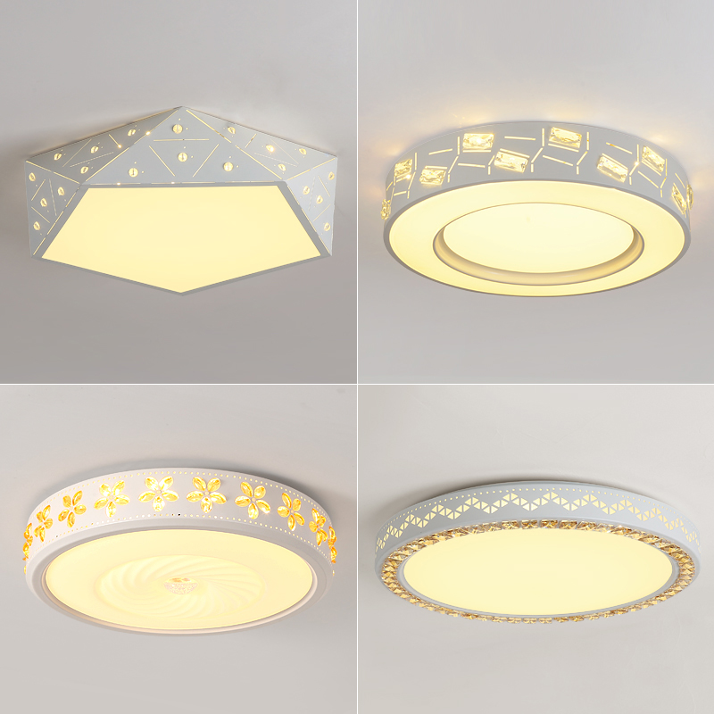 Modern LED ceiling light white Round simple decoration fixtures study dining room balcony bedroom living room ceiling lamp simple style ceiling light wooden porch lamp square ceiling lamp modern single head decorative lamp for balcony corridor study