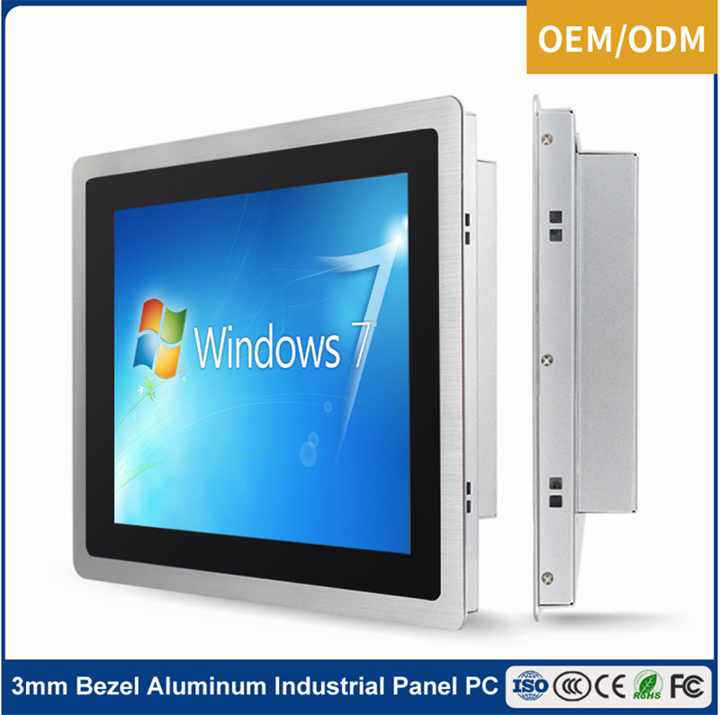 Silver 3MM bezel 19 inch outdoor tablet PC with high brightness