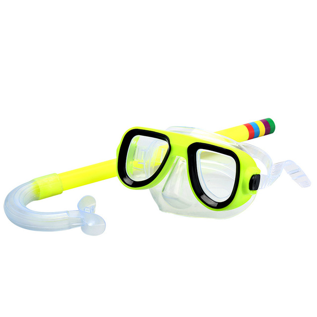 Children Safe Snorkeling Diving Mask+Snorkel Set PVC High Quality 5 Colors Scuba Swimming Set Water Sports For Kid 3-8 Years old