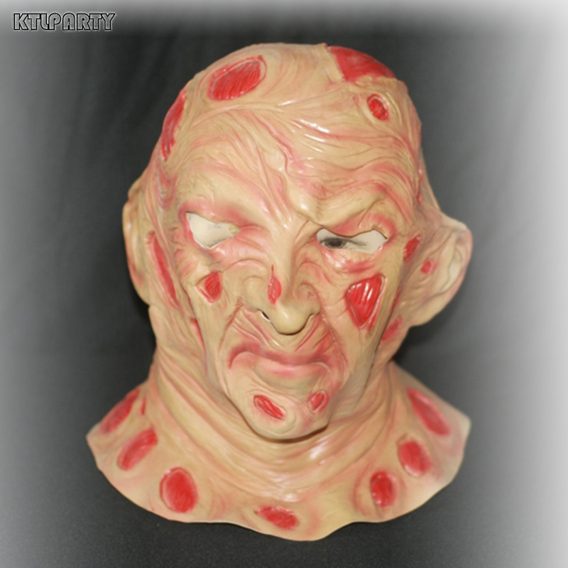 Adulte Terreur Cicatrice Freddy latex masque Halloween Horreur Fantôme Zombie Freddy Jason Masque Livraison gratuite