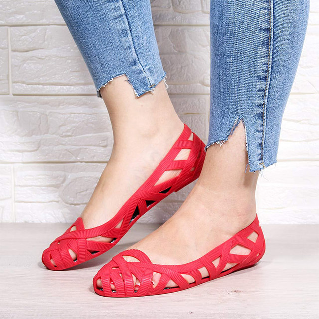 Fashionable Jelly Shoes/ Flat Summer Shoes 21