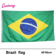 oriflamme 3ftx2ft Brazil Flag national flags Home Decoration Brasil FLAG Country Banner 96*64cm Indoor/Outdoor(China)