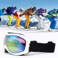 ユニセックススキーゴーグル二重層レンズuv400アンチフォグスノースノーボードスキーメガネ防風球状表面ゴーグル熱