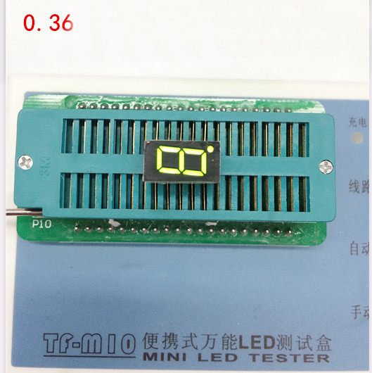 Free Ship 100pc Common Cathode 0.36inch Digital Tube 1 Bit Digital Tube Display Yellow-Green Digital Led Tube  Factory Direct