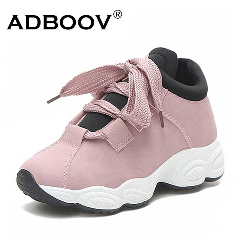ca141cd9 ... ADBOOV Мода кроссовки Для женщин Feelce внутри зимняя обувь удобные  женские кроссовки на платформе High Street ...