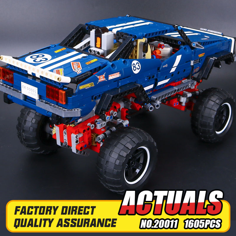 MOC Lepine 1605pcs Technic Remote Control Electric Off-road Vehicles Building Block Toys Rc Brick Compatible with 41999 gift technican technic 2 4ghz radio remote control flatbed trailer moc building block truck model brick educational rc toy with light