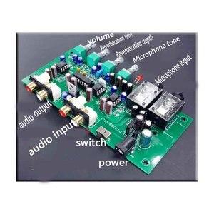 Image 5 - KYYSLB Home Audio op amp NE5532 Preamplifier OF1 TP2399 HD Digital amplifier Karaoke Board Pre level  with Microphone input