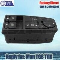 Factory Direct Auto Power Window Lifter Control Switch apply For MAN Truck parts Man TGS TGX TGL TGM LHD Driver Side 81258067093
