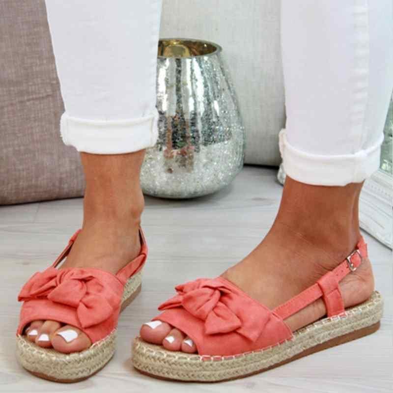 VERTVIE קיץ מזדמן נשים סנדלי אבזם רצועת דירות סנדלי נעלי אישה מוצק צבע פיפ הבוהן Sandalias Mujer 2019