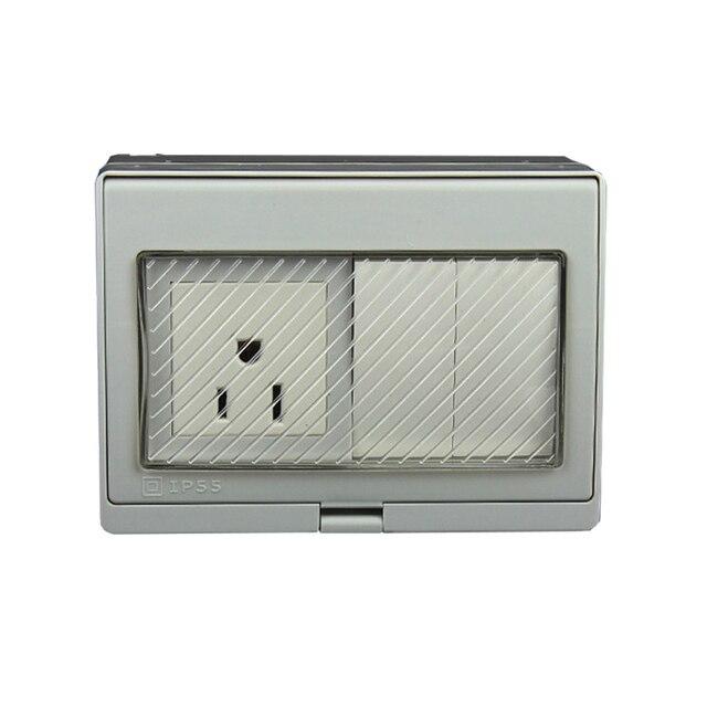 IP55 Report CE Wall Waterproof Power Socket, US Standard Electrical ...