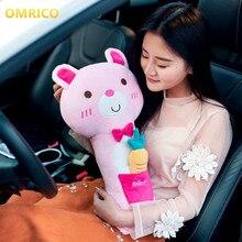 cartoon cute rabbit cat bear car seat belt cover for kids child auto safety shoulder pads pillow car interior seats accessories