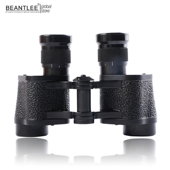 BEANTLEE 6X24 Binoculars With Bak4 Leather Bag Portable Army Binocolo HD High Powered Teleskop Metal Telescope Nitrogen Waterpro