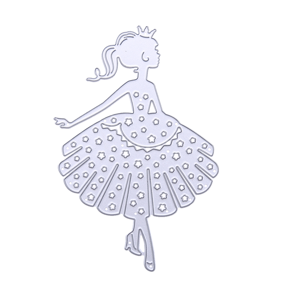 Dancing Girls Cutting Dies Scrapbooking Album Decorative Metal Stencils DIY Card Making Craft Die Cuts Embossing Template ...