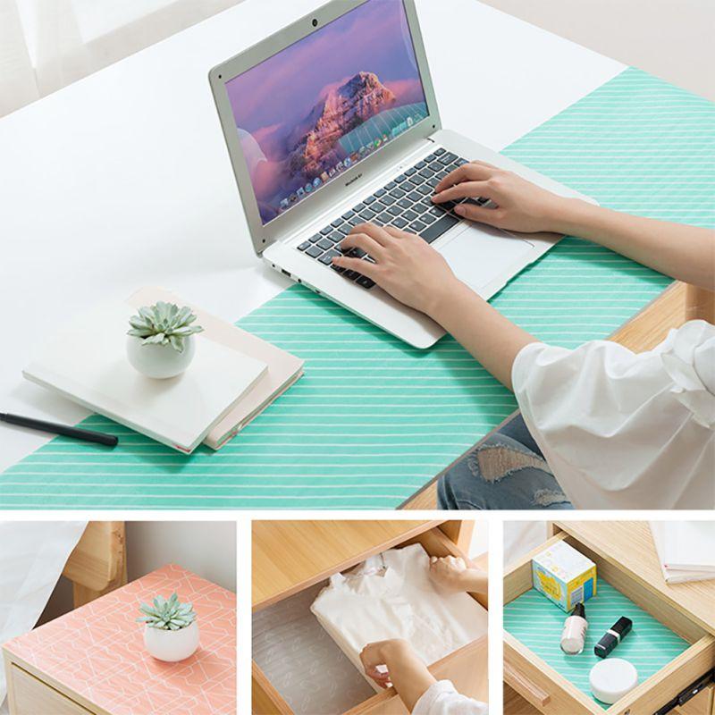 Waterproof Non-Slip Placemat Table Mat Cabinet Closet Kitchen Drawer Tableware Pad Mat Desk Decoration Kitchen Supplies