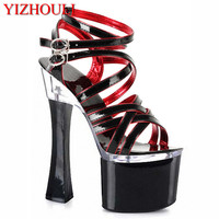 2018 platform open toe shoe bow high heeled shoes thick heel sandals women's shoes