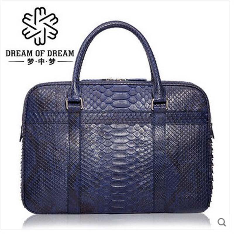 mengzhongmeng Python skin Man handbag computer bag men's handbag bag fashion business package