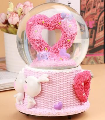 488 Zmrui Creative Rotary Crystal Ball Music Box Girls Birthday Gift Girlfriend Bestie Romantic