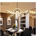 2017 New 65W Modern pendant lights for living room dining room acrylic aluminum body hanging lamp LED Lighting D65cm