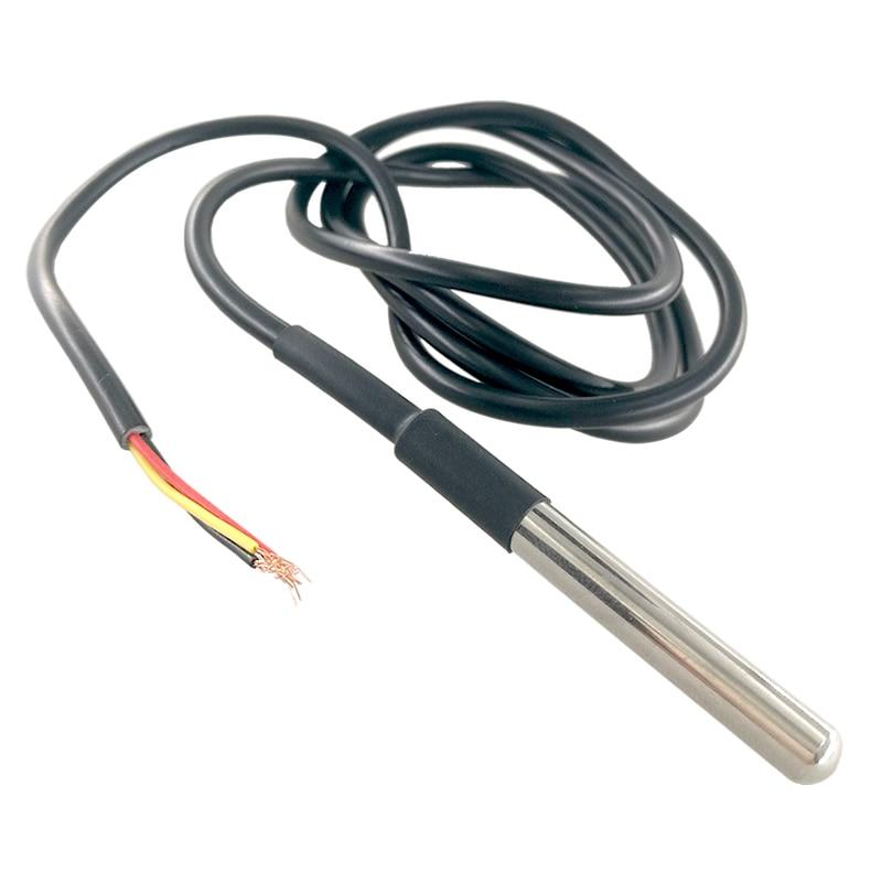 Image 3 - 50 pcs ds1820 스테인레스 스틸 패키지 방수 ds18b20 온도 프로브 온도 센서 18b20 arduino 용센서들   -