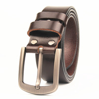 VOHIO 2019 Plus Size 130 135CM Belts 100% Cowhide Genuine Leather Black brown Belt Mens 3.7wide Belt 43 48inch Long Big and Tall