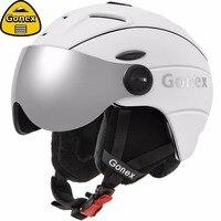 Gonex 2019 Pro Ski Helmet with Goggles Safety Certificate Integrally molded Snowboard Helmet for Winter Sports Skiing Men Women