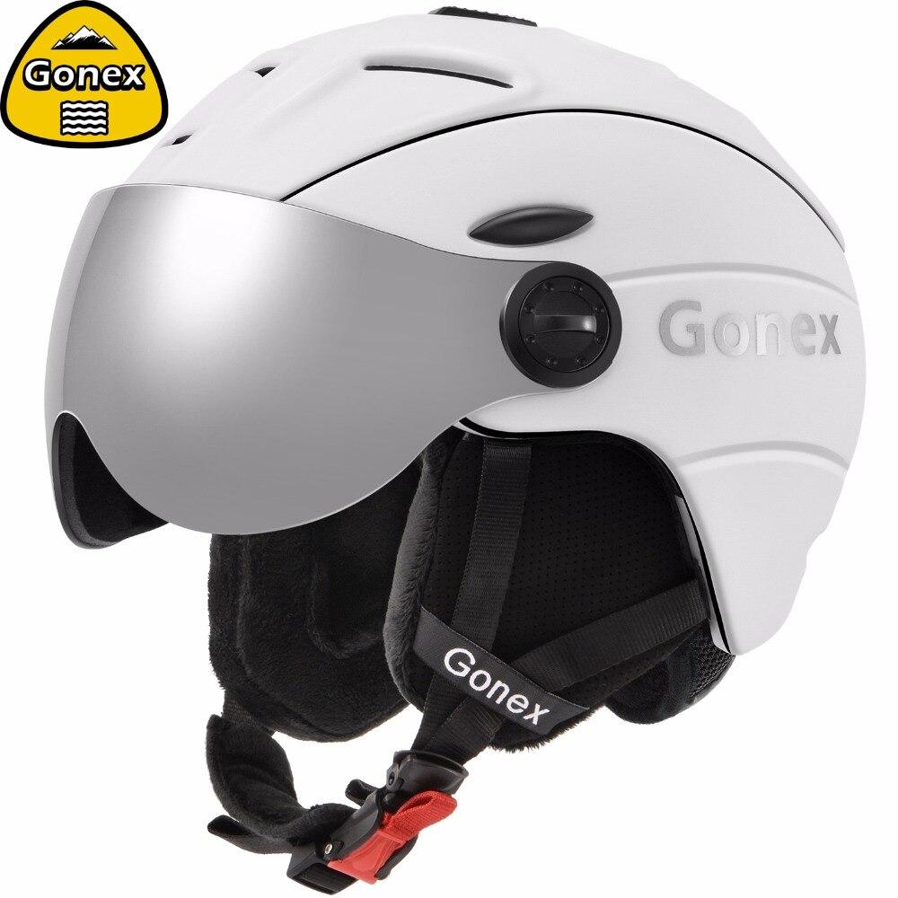 Gonex 2019 Pro casque de ski avec Des Lunettes De Sécurité Certificat Moulée Intégralement Snowboard Casque pour les Sports D'hiver Ski homme femme