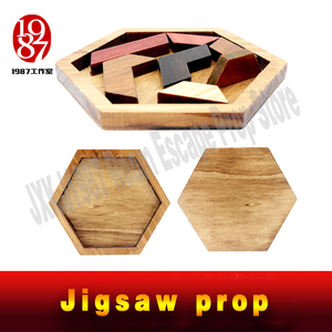 Image 3 - JXKJ1987 Escape room prop Tangram Prop real life room escape game finish jigsaw puzzles to unlock secret chamber room