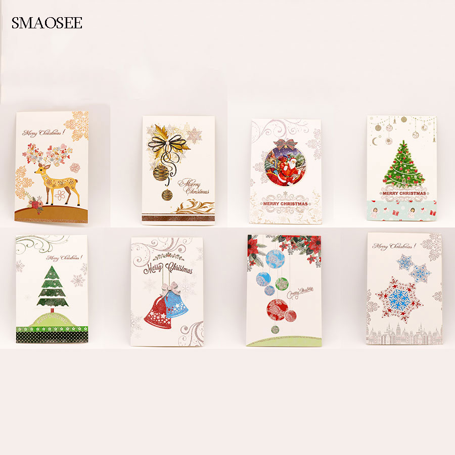 8pcsset cartoon deer christmas greeting card kids birthday greeting cards christmas decoration gift cards school xmas supplies in cards invitations from - Deer Christmas Cards