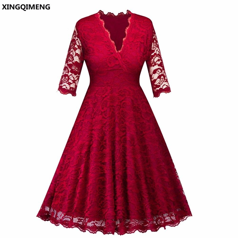 Auf Lager Günstige Einfache Dark Red Cocktailkleider Elegante Kurze ...