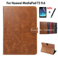 Luxury Case For Huawei MediaPad T3 10 AGS L09 AGS L03 9 6 Smart Cover Funda