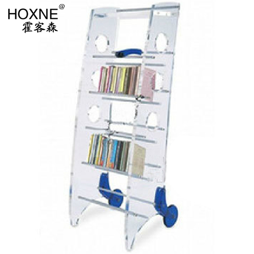 Huo Sen Off Shelves Shelving Carts Crystal Clear Acrylic Bookcase Shelf Mobile Multi Books Bookshelf
