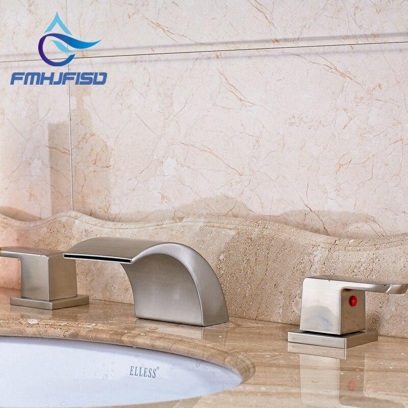 Хорошая цена Best качество Ванная комната Туалетная вода краны щеткой Никель смеситель