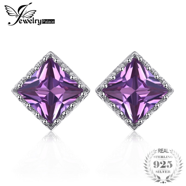 silverbestbuy alexandrite change earrings stud color stone