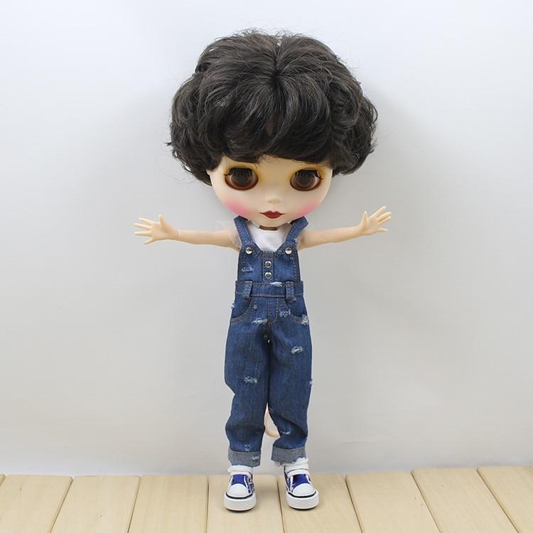 Neo Blythe Doll Denim Jumpsuit Set 2