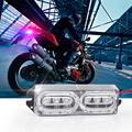 1pcs NEW 12V Universal Car Auto Truck Motorcycle Xenon White Emergency Strobe Flash Warning LED Light Bar Kit Red/Blue Police