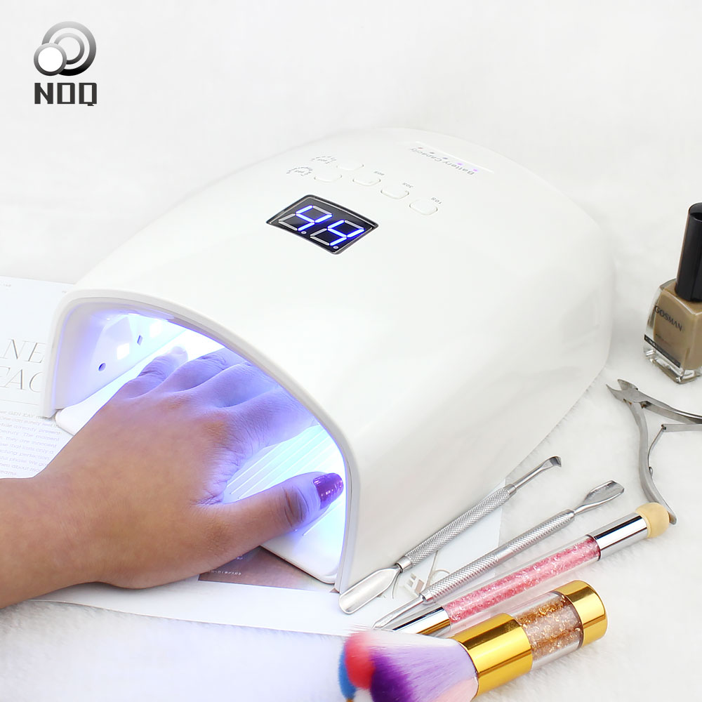 NOQ Smart Sensor Nail Lamp With Battery 48W Uv Led Nail Light Dryer For Curing All Type Gel Polish With Timer Button 10s 30s 60s
