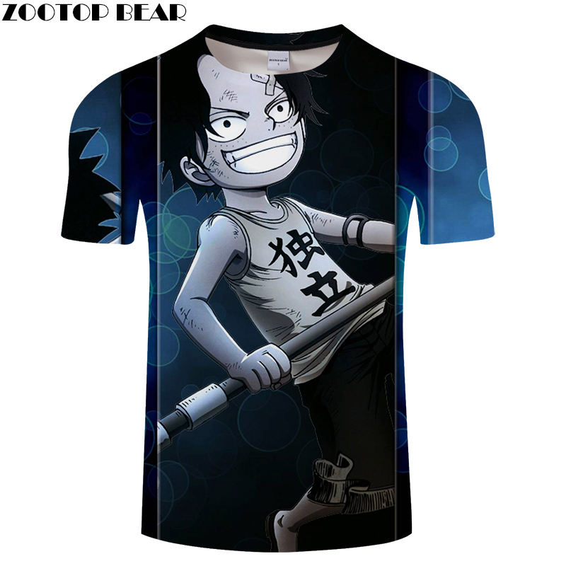 Independent Men T Shirts 3D Print Funny Cool Short Casual Shirt Movie Comic One Piece Anime Brand t-shirt Breathable ZOOTOPBEAR