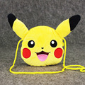 Free Shipping New Cute Pikachu Plush Coin Bag Purse 15cm Pikachu change pocket