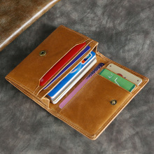 купить Brand High Quality Design Wallets with Coin Pocket Purses Gift For Men Card Holder Bifold Male Purse Genuine Leather Men Wallets дешево