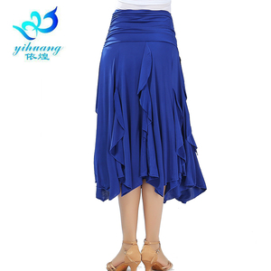 Image 4 - Free Shipping Ballroom Waltz Dance Skirts Modern Standard Tango Salsa Samba Rumba Practice Costumes Elastic Waistband #2547