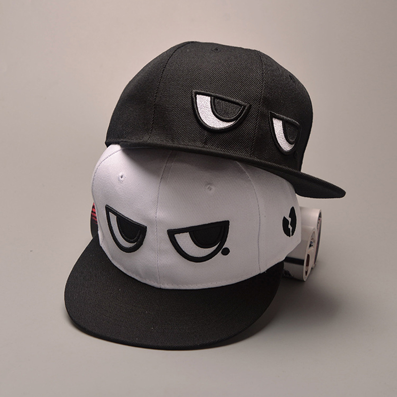 Funny Black White Eyes Fashion Bone Dad Brand New Snapback Caps New Men Women's Adjustable Baseball Cap Snapback Hip Hop Hat