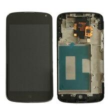 Ограниченное предложение 100% оригинал для LG Google Nexus 4 E960 ЖК-дисплей Экран дисплея с сенсорным дигитайзер Ассамблеи с рамкой рамка Бесплатная доставка