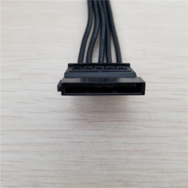 10 pcs/lot SATA 15Pin femelle à femelle 1 à 5 séparateur disque dur câble d'alimentation cordon 18AWG noir pour PC serveur bricolage - 4