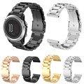 Correas de reloj para garmin fenix3 smart watch negro oro plata pulsera de acero inoxidable reloj correa de la banda de metal de 26mm